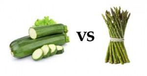 Zucchini vs Asparagus