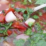 Beef & Faux-Tato Soup